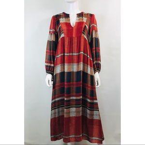 Zara Woman Peasant Long Sleeve Maxi Dress